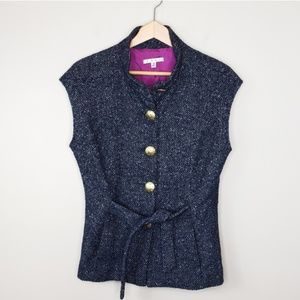 CAbi | #116 Tweed Vest with Gold Buttons